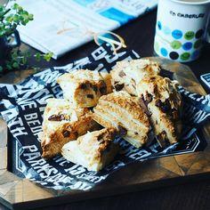 スコーン色々❤とサクッふわ~♪チョコチャンククロワッサンスコーン♪ | しゃなママオフィシャルブログ「しゃなママとだんご3兄弟の甘いもの日記」Powered by Ameba