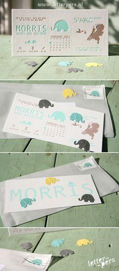 letterpers_letterpress_geboortekaartje_morris_olifantjes_confetti