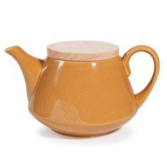 Teekanne aus Steingut gelb COVENTRY
