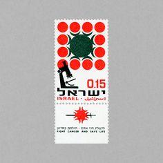 Cancer Research. Israel, 1966. Design: H. Frank. #mnh #mintneverhinged #mnh_isr…