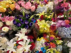 What an amazing selection of flowers at the corner market in NY.