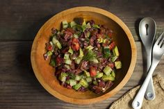Tomato Cucumber Salad with Avocado & Olives | Free People Blog #freepeople