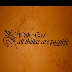 With God All Things Are Possible Tattoo Llll