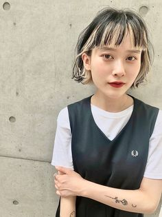 Hair Color Streaks, Hair Color Highlights, Hair Color Underneath, Short Grunge Hair, Split Dyed Hair, Mullet Hairstyle, Hair Magazine, Aesthetic Hair, Asian Hair