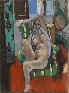 "Henri Matisse - ""What I dream of is an art of balance."" - - Henri Matisse Odalisque with a Tambourine Oil on canvas x cm… Henri Matisse, Matisse Kunst, Matisse Art, Figure Painting, Painting & Drawing, Life Drawing, Städel Museum, Matisse Paintings, Frida Art"