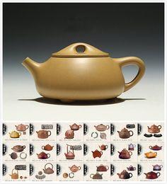 Shi Piao teapot,18 Types of ManSheng Zisha Clay Teapot;YiXing Pottery Handmade zisha clay teapot,