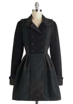 In the Flower Patchwork Coat, #ModCloth