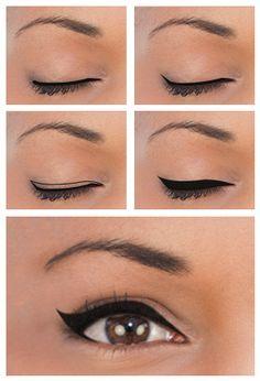 Winged Eyeliner for Almond-shaped Eyes