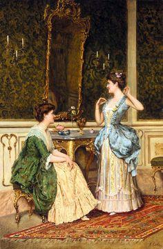 Emmanuel Costa (1833-1921) -Admirer les bijoux.