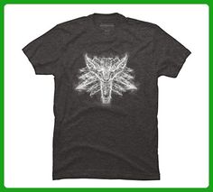 Smoky Wolf Men's 3X-Large Charcoal Heather Graphic T Shirt - Design By Humans - Animal shirts (*Amazon Partner-Link)