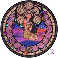 Pocahontas StainedGlassWindow