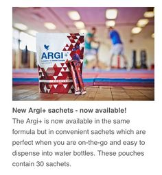 New Argi pouches! With individual sachets, from Forever Living.