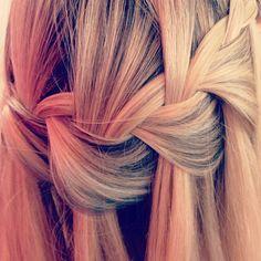 Waterfall braid, cute :)
