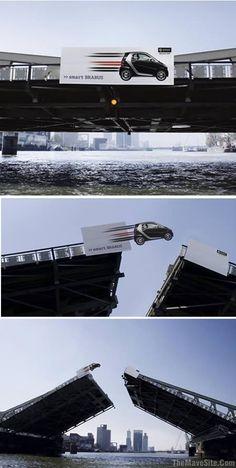 Billboard smart mercedes #guerrilla