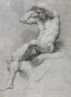Academic nude, 1785, Pompeo Batoni (1708-1787)