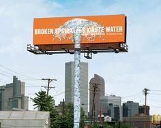 Denver Water: Sprinkler  #cartellonistica #pubblicitàesterna #installazioni  #pubblicità #outdooradvertising #advertising #creativeadvertising #creativeinstallation