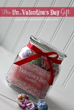 valentines sucks - the perfect gift for those who are single or with someone who doesn't celebrate the day as much as you'd like!