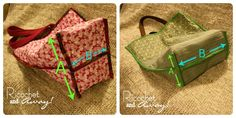 Ricochet and Away!: DIY Quilted Tote Bags