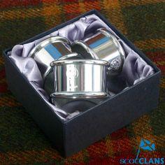 MacLaren Clan Crest Napkin Rings