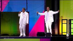 Em seguida apareceram Zeca Pagodinho e Marcelo D2 mandando uma mistura bem brasileira.