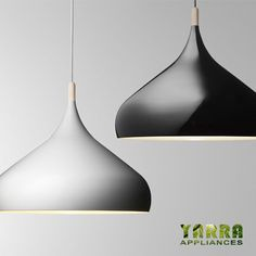 Spinning Onion Ceiling Lamp Pendant light in black and white