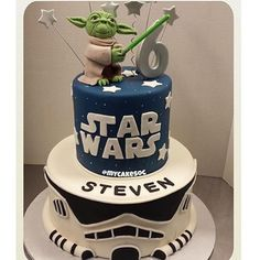 - Star Wars Themed Birthday Cake  - Like if you want a taste! - Tag someone who would enjoy this!! - Cake by @mycakesoc -
