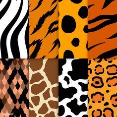 Set of seamless animal print pattern vectors Cheetah Print Wallpaper, Plaid Wallpaper, Animal Wallpaper, Animal Print Background, Pattern Background, Cute Christmas Wallpaper, Textile Pattern Design, Free Illustrations, Vector Pattern