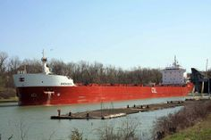 2014 - Watched the Birchglen from Montreal got through the locks in St. Catharines with Mark Rotolo Great Lakes Ships, St Catharines, Cool Boats, Titanic, Montreal, Ontario, Castles, Statue Of Liberty, Locks