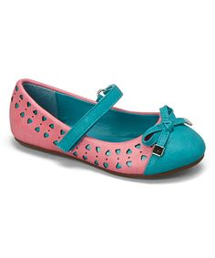 Look at this Kelly Kids Fuchsia & Turquoise Bow Joanie Mary Jane on #zulily today!