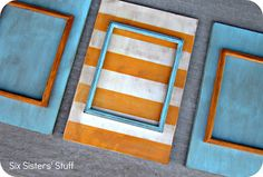DIY Stacked Picture Frames Tutorial | Six Sisters' Stuff
