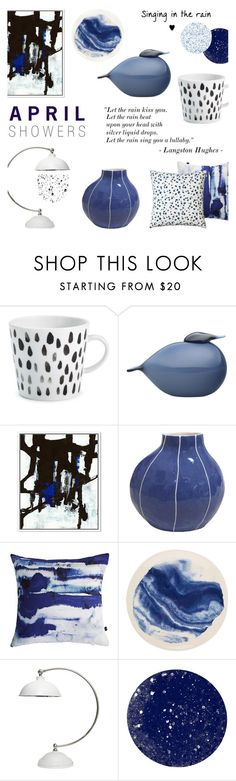 """""""April Showers"""" by c-silla ❤ liked on Polyvore featuring interior, interiors, interior design, home, home decor, interior decorating, iittala, Kri Kri Studio, Amy Sia and 1882 Ltd."""