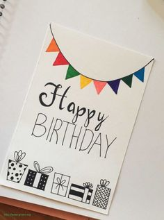 DIY Birthday Cards Ideas Effective Images We Make About Birthday Card . - DIY Birthday Cards Ideas Effective pictures that we offer by handprinting birthday cards A quality - Creative Birthday Cards, Homemade Birthday Cards, Birthday Cards For Friends, Homemade Cards, Happy Birthday Handmade Cards, Easy Diy Birthday Cards, Happy Birthday Gifts, Boyfriend Birthday Cards, Diy Crafts For Birthday