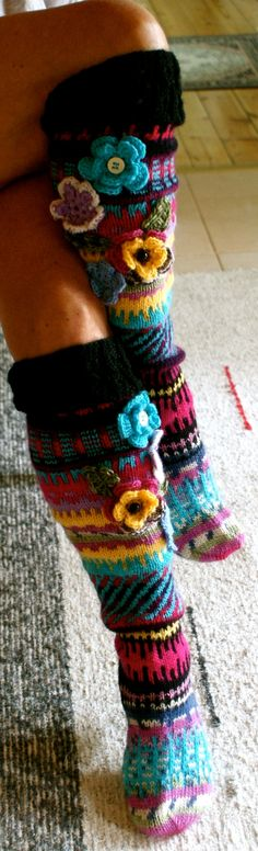 Irish lace, crochet, crochet patterns, clothing and decorations for the house, crocheted. Crochet Socks, Love Crochet, Irish Crochet, Diy Crochet, Knitting Socks, Hand Knitting, Knit Socks, Knit Stockings, Irish Lace