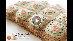 Learn Making A Lovely Flowers Blanket Crochet | CrochetBeja