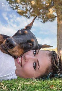 DOBERMAN PINSCHER For Evermore Pet Photography  my photo shows such a soft sweet side of a Doberman, opposite of what some may think.This handsome boy is 15 month old Hannibal and his mom, two beauties... Like.jpg (267×395)