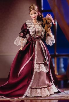 Victorian Barbie® Doll with Cedric Bear™ | Barbie Collector