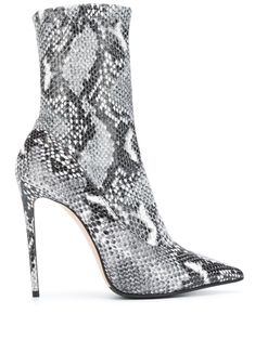 Le Silla Snakeskin Effect Sock Boots - Farfetch Low Boots, High Heel Boots, Black Boots, Heeled Boots, Bootie Boots, High Heels, Ankle Heels, Stiletto Heels, Shoes Heels