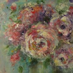 Florals Bouquets.  Acrylic
