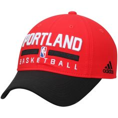 sale retailer a59bc 755ee Portland Trail Blazers adidas 2-Tone Practice Slouch Adjustable Hat - Red