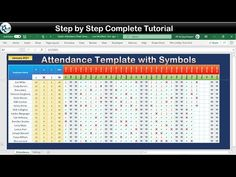 Stylish Attendance Tracker with Symbols in Excel - YouTube