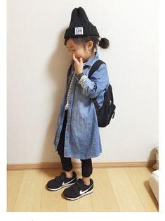 miyuuu.さんのコーディネート Toddler Fashion, Kids Fashion, Fashion Outfits, Fasion, Kids Wear, Cute Girls, Korean Fashion, Kids Outfits, How To Wear