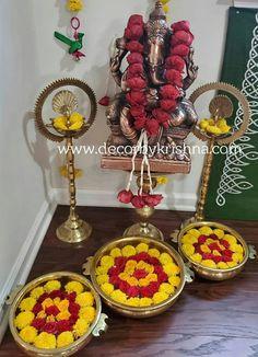 Diwali Decorations At Home, Indian Wedding Decorations, Festival Decorations, Rangoli Designs Flower, Colorful Rangoli Designs, Flower Rangoli, Hyderabad, Chennai, Krishna