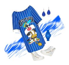 """""""Toon Time"""" by gemique ❤ liked on Polyvore featuring Moschino, Vince Camuto and Giuseppe Zanotti"""