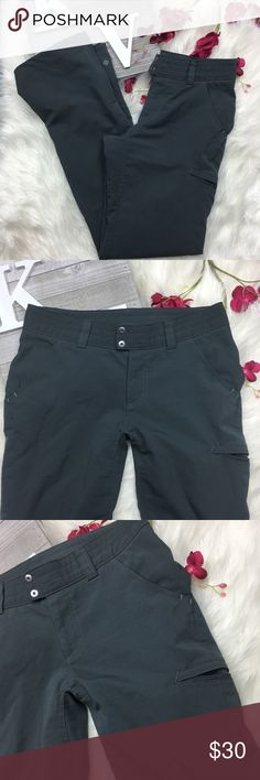 Columbia Pants Zipper Cuff Gray Size 6 Columbia women's hiking outdoor pants sun protection  Gray lightweight EUC without flaws  Laid Flat Waist 26 Rise 9 Inseam 32 Columbia Pants Straight Leg