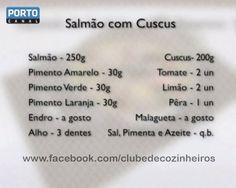 Salmão com Cuscus // Veja a receita em http://videos.sapo.pt/Hh8gQKll1KmIZA7YK5sz // Clube de Cozinheiros de 2ª a 6ª ás 17.30h no Porto Canal mais uma receita simples, prática e muito deliciosa! // Veja todas em www.portocanal.sapo.pt e www.fb.com/clubedecozinheiros