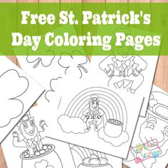 Free Printable St. Patricks Day Coloring Pages - Leprechauns, Shamrocks, Rainbows and Pots of Gold