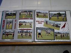 Scrapbook layout from Erik's Sr Scrapbook / Album - Soccer