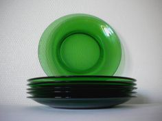 Retro vintage 60s  70s / 6 Plates / Vereco France by MIKITCHU, €40.00