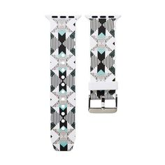 New Brand Silicone Sports Band Boho chic print pattern Colorful wrist Strap - C5-Hourglass Pattern / 38mm 40mm watch
