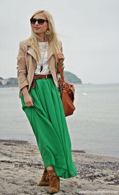 Elegant Chiffon Long Skirt Multi Color